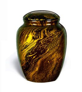 Fiber Glass Cremation Urn, Gold - IUFG101