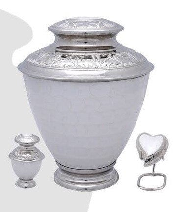 Elegance Pearl White Cremation Urn- IUFH121