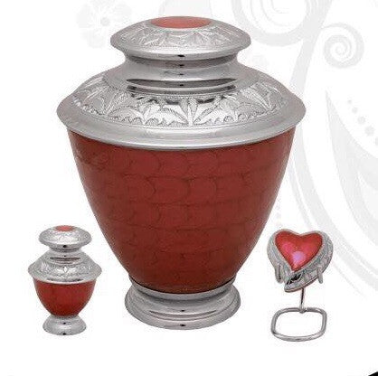 Elegance Pearl Red Cremation Urn- IUFH124