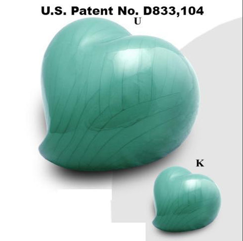 Infinity Eternal Heart Cremation Urn - Teal- IUFH129