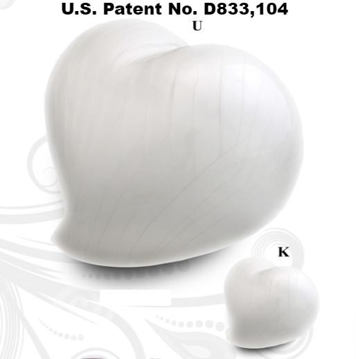 Infinity Eternal Heart Cremation Urn - White - IUFH130