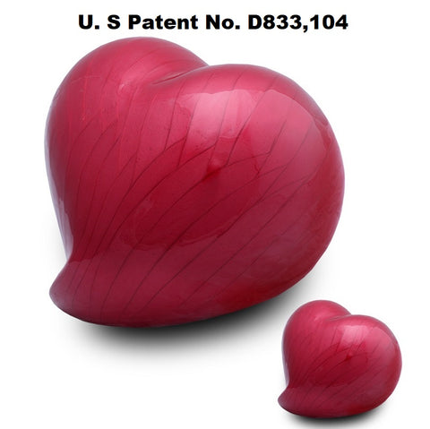 Infinity Eternal Heart Cremation Urn - Red- IUFH132