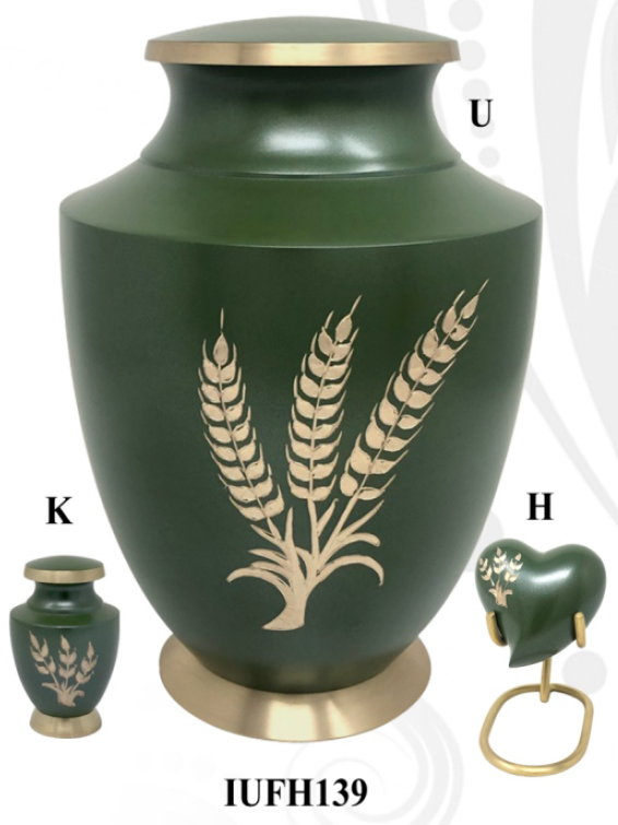 Solace Wheat Fond Cremation Urn - IUFH139