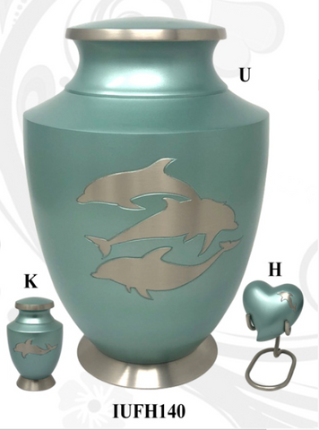 Solace Dolphin Family Cremation Urn- IUFH140