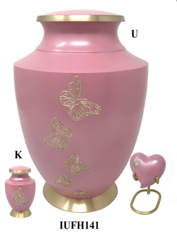 Solace Golden Butterfly Family Cremation Urn - IUFH141
