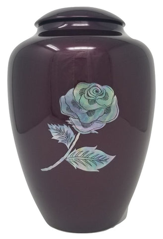 Shell Art Burgundy Rose  - IUFM103