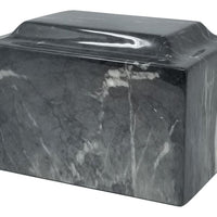Black and White Faux Marble Urn- IUFXM102