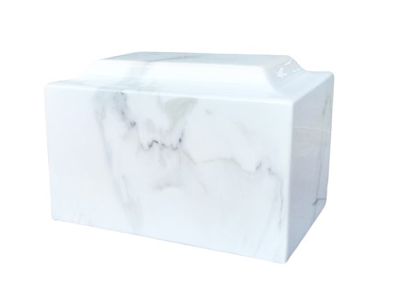 White Faux Marble Urn- IUFXM103