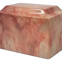 Pink Onyx Faux Marble Urn- IUFXM104