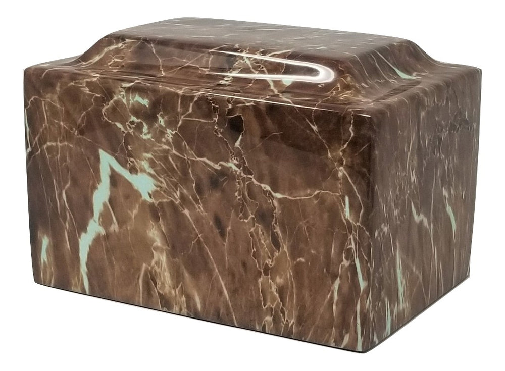 Brown Faux Marble Urn- IUFXM105