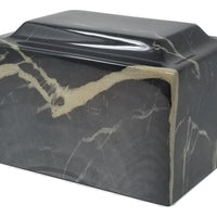 Black Beauty Faux Marble Urn- IUFXM109