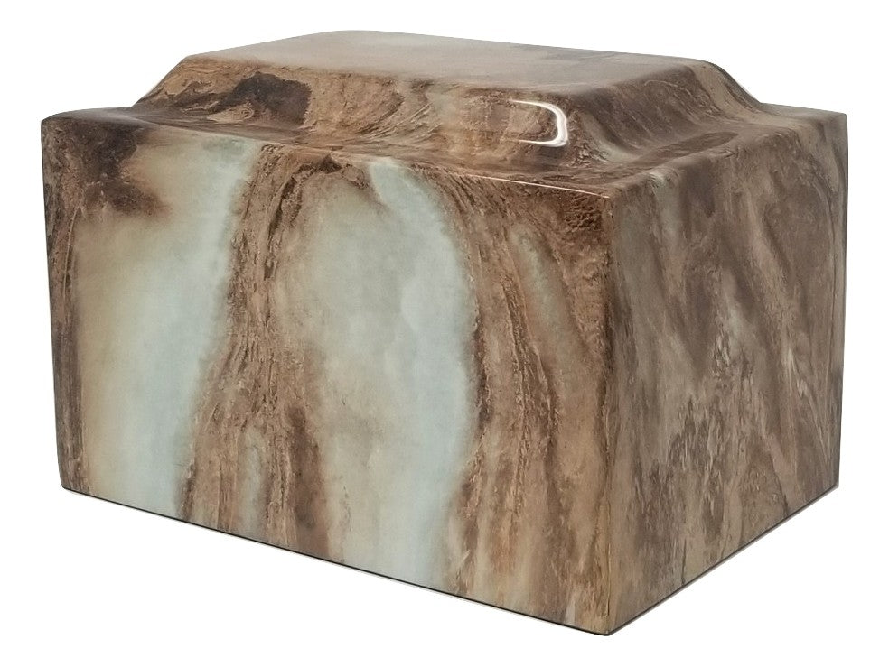 Toffee Faux Marble Urn- IUFXM111