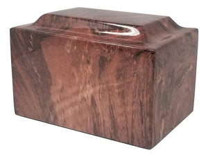 Chocolate Faux Marble Urn- IUFXM113