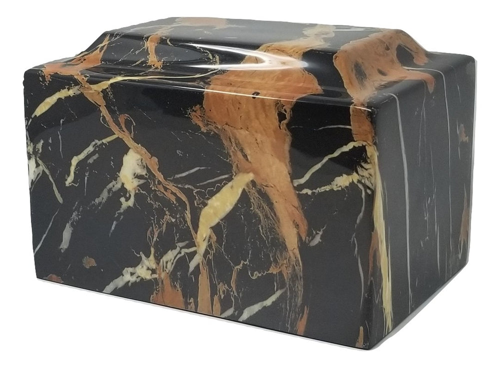 Black  and Gold Faux Marble Urn- IUFXM116