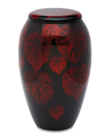 Hand Painted Red Falling Leaf - IUHP111