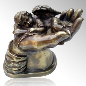 Baby Angel on Hand Cremation Urn - IUIN102