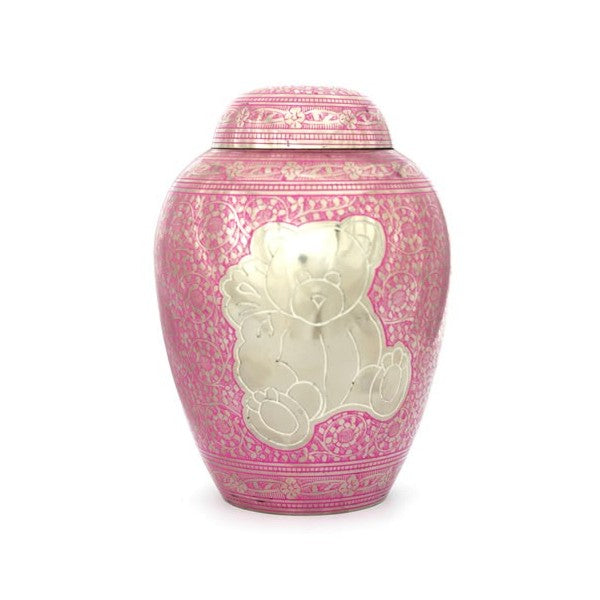 Teddy Bear Infant Urn - Pink or Blue - IUIN109-P or IUIN109-B