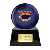 Football Trophy Urn Base and Chicago Bears Team Sphere