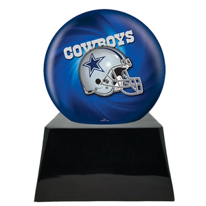 Football Trophy Urn Base with Optional Dallas Cowboys Team Sphere