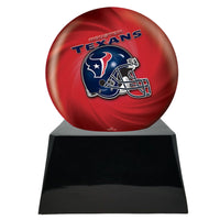 Football Trophy Urn Base with Optional Houston Texans Team Sphere