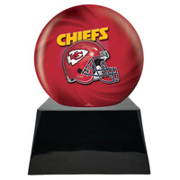 Football Trophy Urn Base with Optional Kansas City Chiefs Team Sphere