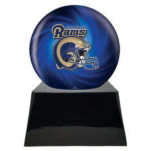 Football Trophy Urn Base with Optional Los Angeles Rams Team Sphere