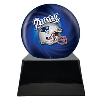Football Trophy Urn Base with Optional New England Patriots Team Sphere