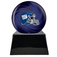 Football Trophy Urn Base with Optional New York Giants Team Sphere