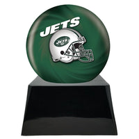 Football Trophy Urn Base with Optional New York Jets Team Sphere