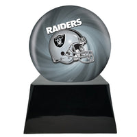 Football Trophy Urn Base with Optional Oakland Raiders Team Sphere