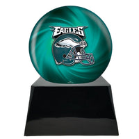Football Trophy Urn Base with Optional Philadelphia Eagles Team Sphere
