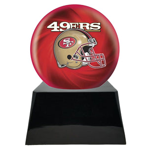 Football Trophy Urn Base with Optional San Francisco 49ers Team Sphere