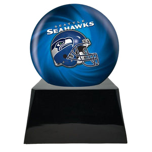 Football Trophy Urn Base with Optional Seattle Seahawks Team Sphere