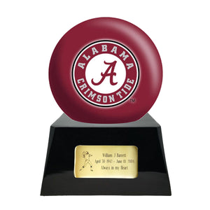 College Football Trophy Urn Base with Optional Alabama Crimson Tide Team Sphere
