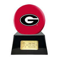 College Football Trophy Urn Base with Optional Georgia Bulldogs Team Sphere