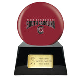 College Football Trophy Urn Base with Optional South Carolina Gamecocks Team Sphere