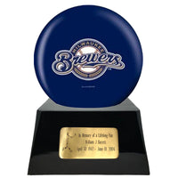 Baseball Trophy Urn Base with Optional Milwaukee Brewers Team Sphere
