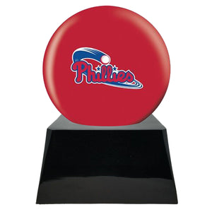 Baseball Trophy Urn Base with Optional Philadelphia Phillies Team Sphere