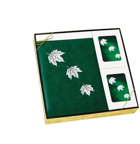 MOP Green Leaf - Urn & Stationary Box Set - IUMOP107 SET
