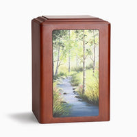 Adorn Forest Stream Wooden Urn - IUP01