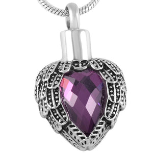 Purple Wing Heart Pendant- IUPN160