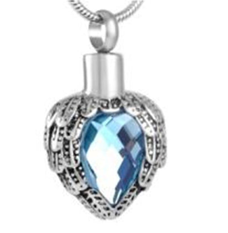 Aquamarine Winged Pendant- IUPN182