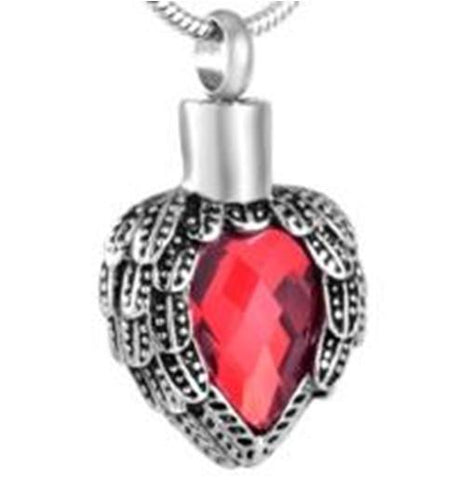 Ruby Angel Winged Pendant- IUPN183