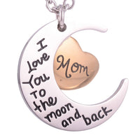 """I love you to the moon and back"" Mom Pendant - IUPN195"
