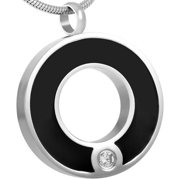 Crystal with Black Band Pendant - IUPN208