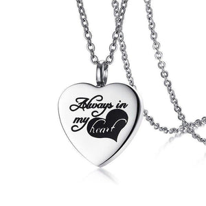 """Always in my Heart"" Heart Shaped Pendant - IUPN217"