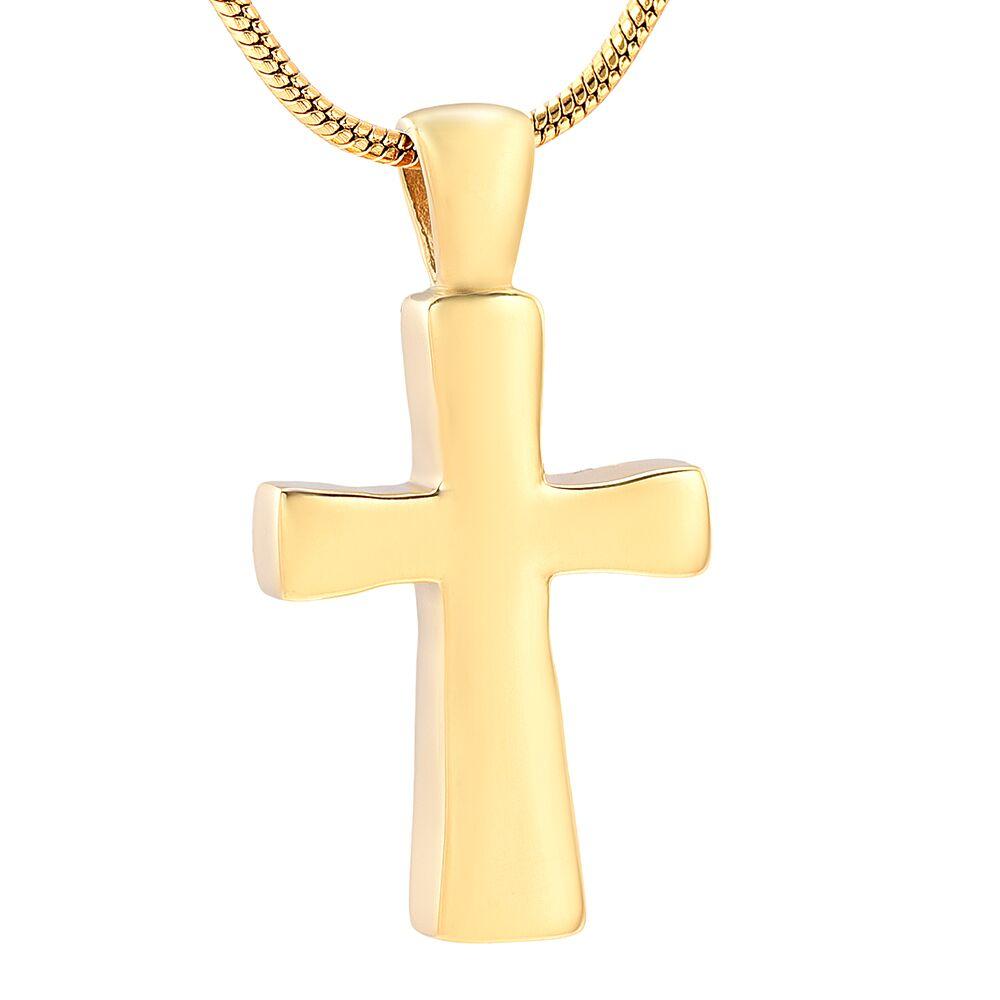 Gold Colored Cross Pendant - IUPN228