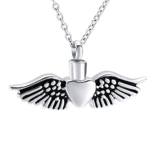 Heart with Black Wings Pendant - IUPN235