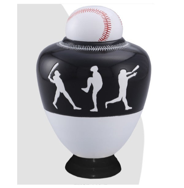 Infinity Baseball Team Cremation Urn - Black - IUSP110-B