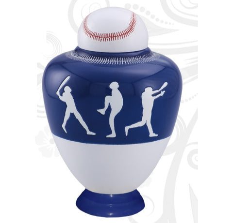 Infinity Baseball Team Cremation Urn - Dark Blue - IUSP110-DB